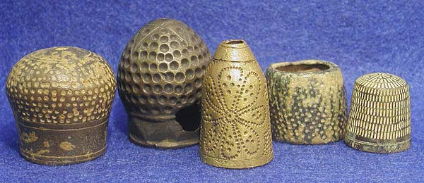 Bronze thimbles from antiquity